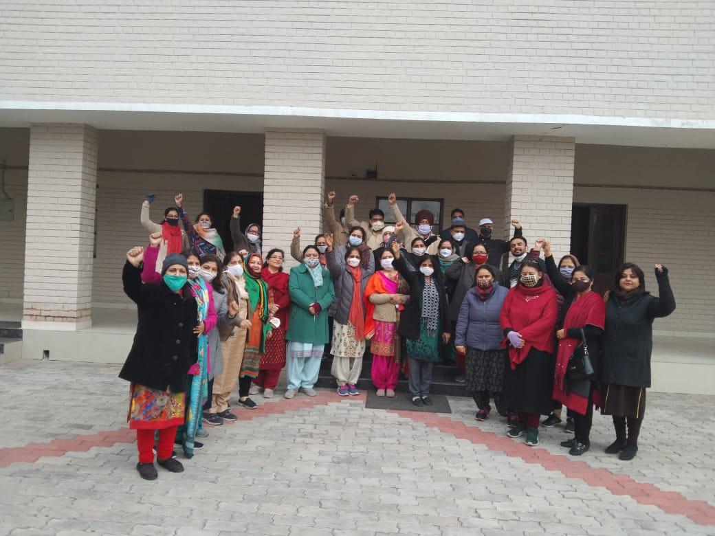 hmv teachers protest
